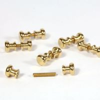 Brass Door Knobs x12 with Threads x6