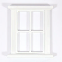4 Pane White Window Frame for 1:12 Scale Dolls House