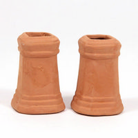 Chimney Pots (pair) - Square for 1:12 Scale Dolls House