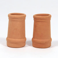 Chimney Pots (pair) - Small Round for 1:12 Scale Dolls House