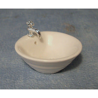 Round Ridged Sink for Dolls House
