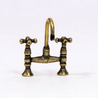 Antique Brass Style Mixer Tap - 1:12 scale