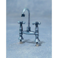 Antique Silver Style Mixer Tap - 1:12 scale