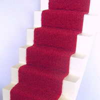 Stair Carpet (Self Adhesive) - Dark Red