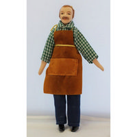 Clothed Male Doll Figure Carpenter