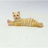 Light Tabby Cat for Dolls House
