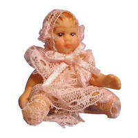 Porcelain Baby Girl Doll Figure