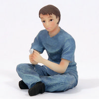 Teenage Boy Sitting Figure - 1:12 scale
