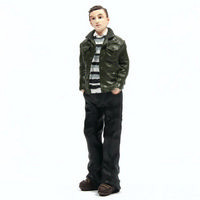 Resin Man Figure Wearing Jacket