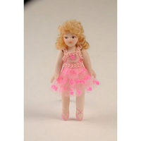 Young Ballerina Girl Doll Figure
