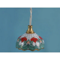 Tiffany Style Ceiling Light with Porcelain Shade