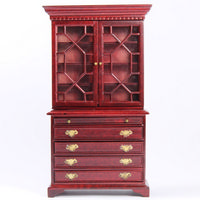 Mahogany Display Cabinet - 1:12 scale.