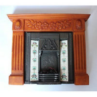 Dolls House Fireplace with Glowing Fire