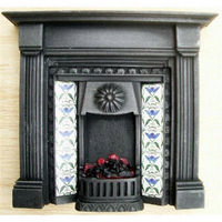 Dolls House Fireplace with Lit Fire