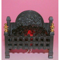 Georgian Square Metal Fire Grate with Glowing Coals