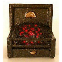 Dolls House Fire Grate with Glowing Coals - 1:24 Scale