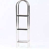 Chrome and Glass Shelf Unit