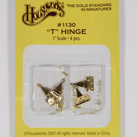 Solid Brass T Hinges & Pins x 4 Pieces