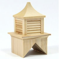 Wooden Cupola for 45 Degree Roof Pitch