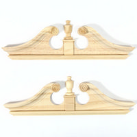 Double Deerfield Door Pediment x2pcs
