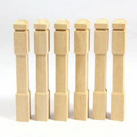 Square Newel Posts x6 for 1:12 Scale Dolls House