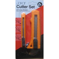 Cutter Set - 2x Snap-off Blade Knives