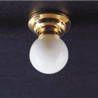 White Globe Dolls House Ceiling Lamp