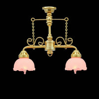 Shop Counter Lamp with Fluted Shades