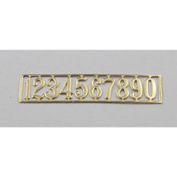 Brass Door Numbers Set - 1:12 Scale