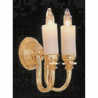 Double Candle Wall Light - 1:24 scale