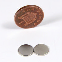 2x Strong Magnets - 10mm dia x 1mm Thick