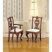 12th Scale Chippendale Cabriole Leg Carver Chair X 2
