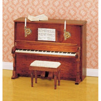12th Scale Upright Piano with Stool Furniture Kit