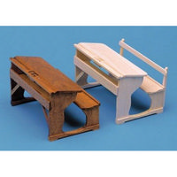 12th Scale School Desks With Back Rest Furniture Kit