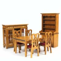Walnut Dining Room Furniture Set 1:12