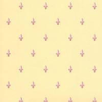 Fleur de Lys Wallpaper - Burgundy / Cream
