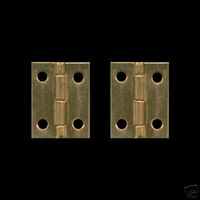 Pair of Brass Hinges 12mm