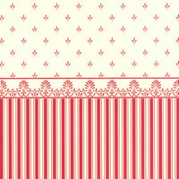 Grosvenor Red / Cream Dolls House Wallpaper
