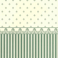 Grosvenor Green / Cream Dolls House Wallpaper