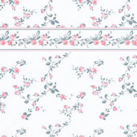 Penshurst White/Pink Dolls House Wallpaper