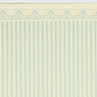 Majestic Stripe Blue Wallpaper - 1:24 Scale