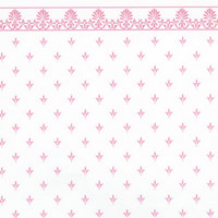 Regal Pink on White Dolls House Wallpaper