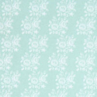 Blenheim Pastel Green on White Wallpaper - 1:24 Scale
