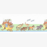 Noah's Ark Dolls House Wallpaper Border
