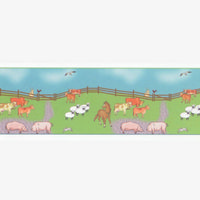 Farmyard Dolls House Wallpaper Border