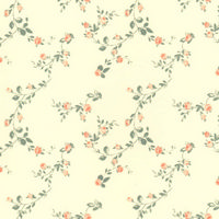 Sissinghurst Apricot With Cream Dolls House Wallpaper