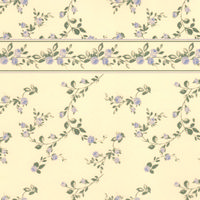 Penshurst Blue/Cream Dolls House Wallpaper