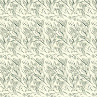 Hedgerow Green Dolls House Wallpaper