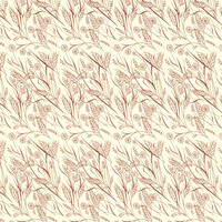 Hedgerow Brown Dolls House Wallpaper