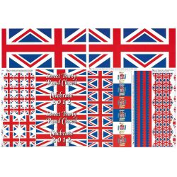 Union Jack Party Cutout Paper